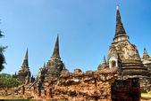 WAT PHRA SI SANPHET, Ayuthaya, Thailand, — Stock Photo