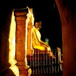 Royalty-Free Stock Photo: Buddha illuminated at night, Wat Mahathat in Sukhothai Historical park, Thailand,