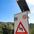 Solar Powered street sign. — Stock Photo