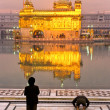 Golden Temple in Amritsar, Punjab, India. - Stock Photo