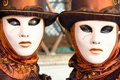 威尼斯面具,嘉年华. — 图库照片