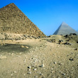 Three pyramids, Giza, Egypt. — Stock Photo #2450590