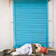 Sleeping on the street — Stock Photo