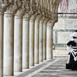 Mask and columns, Saint marco square, Venice. — Stock Photo