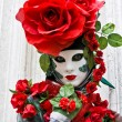 Rose Mask, Venice, Carnival 2008. — Stock Photo