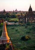 Bagan at Sunset, Myanmar. — Stock Photo