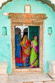 Three woman in Mandawa — Stock Photo