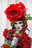 Róża maski, wenecja karnawał 2008. — Zdjęcie stockowe