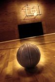 Basketball and Basketball Court — Stock Photo