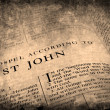 Bible New Testament St. John - Stock Photo