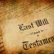 Last Will and Testament — Stock Photo #2329614