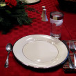 Dinner Place Setting at Table — Stock Photo
