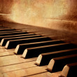 Sepia Piano Keys - Stock Photo