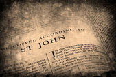 Bible New Testament St. John — Stock Photo