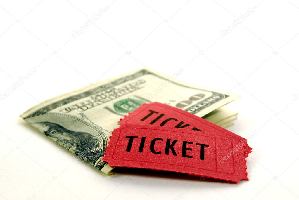 Red tickets for admission with cash — Stock Photo #2329771