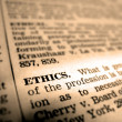 Definition of Ethics — Stock Photo