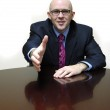 Business Man at Desk — Stock Photo