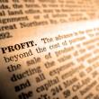 Definition of Profit - Foto Stock