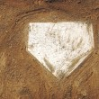 Home Plate Baseball - Foto Stock
