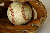 Baseball and Mitt or Glove — Stock Photo