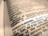 Definition of Foreclosure — Stock Photo