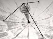 Satellite transmission dish — Stock Photo