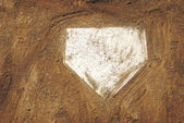 Home-plate-baseball — Stockfoto
