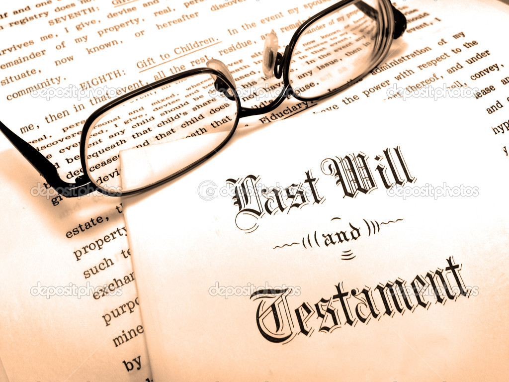 Envelope with Last Will and Testament — Stock Photo #2349080