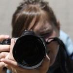 Girl Photographer — Stock Photo #2351442