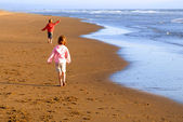 Young Girls on Beach — Stock Photo