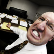 Stock Photo: Mean Boss in Office