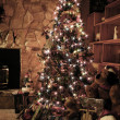 Christmas Tree in Home — Stock Photo