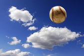 Baseball in air — Stock Photo