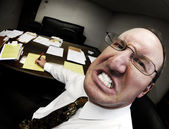 Mean Boss in Office — Stock Photo