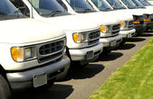 Cars in a Row — Stock Photo