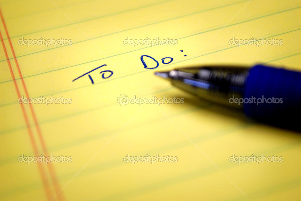 To do list written on paper with blue pen — Stock Photo #2507554