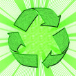 Abstract of recycle  symbol - Stock Photo