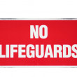 No lifeguards - Stock Photo