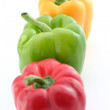 Green yellow and red peppers — Stock Photo