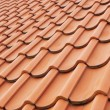 Background perspective of red roof - Stock Photo