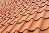Background perspective of red roof — Stock Photo