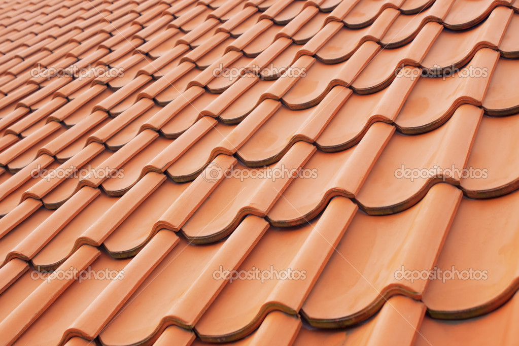 Background perspective of red roof clay tiles — Stock Photo #2284898