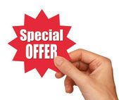 Special offer star — Stock Photo
