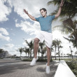 Man jumping from a bench — Stock Photo #2330825
