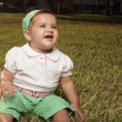 Baby on the grass — Stock Photo #2587030