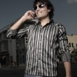 Stock Photo: Image of a man on a cellular phone