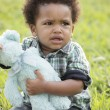 Displeased young toddler - Stok fotoğraf