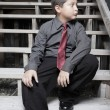 Child in business attire — Stock Photo