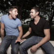 Stok fotoğraf: Two gay men gossiping
