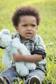 Displeased young toddler — Stock Photo